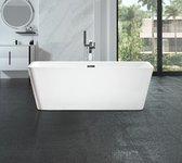 WOON-DISCOUNTER.NL - Design ligbad Arkala 150 - Glanzend wit - 150 x 75 x 58 - Vrijstaand - Acryl -  Ovaal - 151280