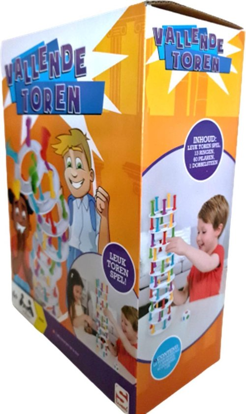 Afbeelding van het spel Vallende Toren met gekleurde pilaren - Top cadeau