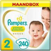Pampers Premium Protection Luiers - Maat 2 (4-8 kg) - 240 stuks - Maandbox