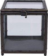 Home Society - Glazen kistje met koperen randen