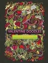 valentine doodles to color
