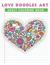 love doodles art adult coloring book