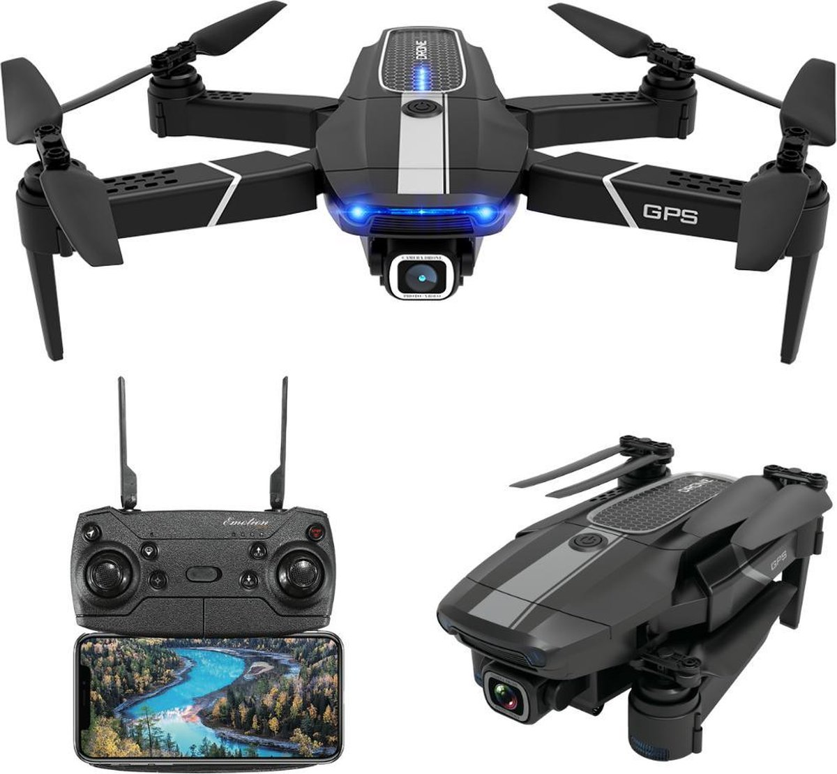 Trendtrading Drone met 4K Camera - 500m Bereik - 75 Minuten Vliegtijd - HD Live-View App