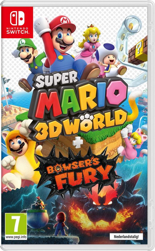 Cover van de game Super Mario 3D World + Bowser's Fury - Switch