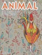 Mandala Coloring Book Stress Relief - Animal