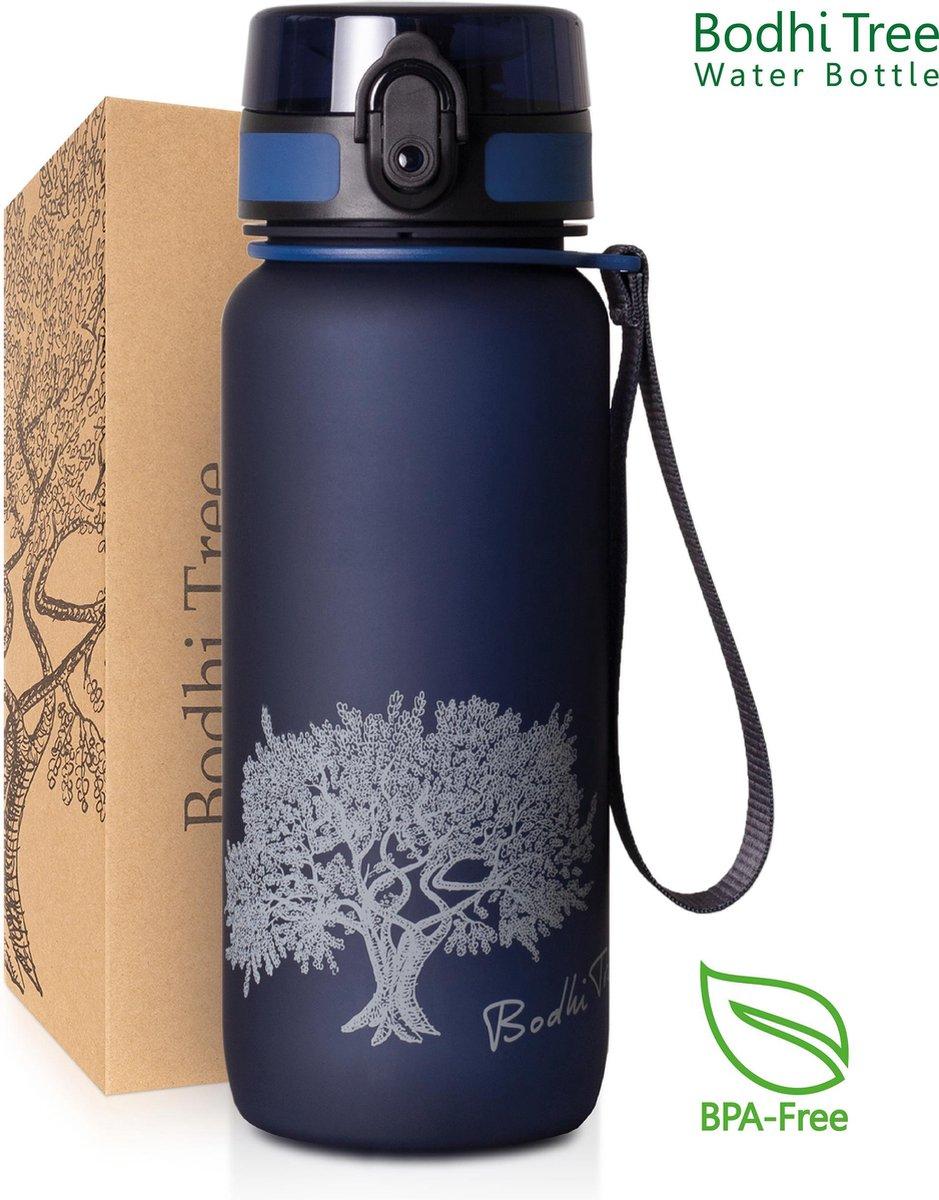 Drinkfles - Bodhi Tree Waterfles - hygi nische sluiting met 1 hand te openen - BPA vrij tritan - met