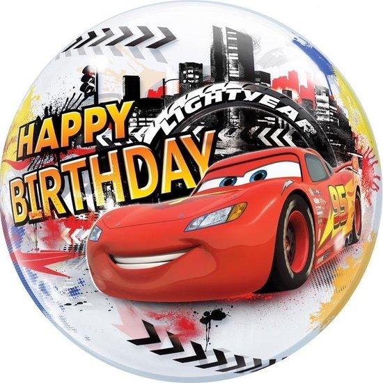 Folat Ballon Cars Happy Birthday Bubbles 56 Cm Latex