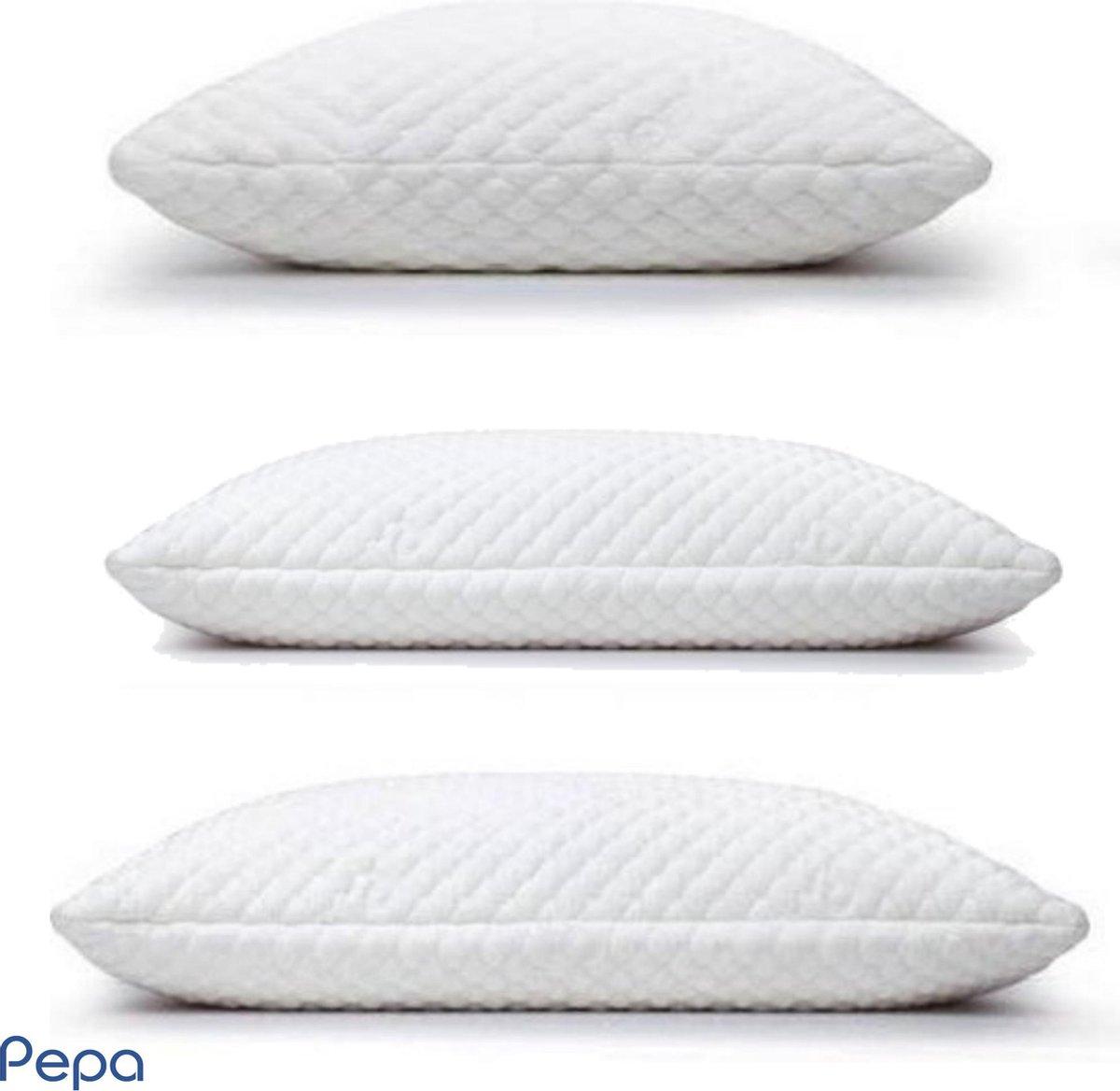 Pepa Hoofdkussen | Classic | 50x60 cm | Traagschuim | Hotelkwaliteit | Kussens slaapkamer | Nekklach