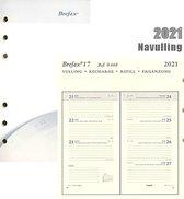 Brepols Agenda 2021 • Brefax 17 • 7 dagen / 2 pagina's • compatibel met Succes © en Filofax ©• 9,5 x 17 cm • Vulling