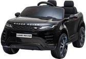 Range Rover Evoque elektrische kinderauto Accu Auto met Rubberen banden, Leren zitje, Bluetooth en afstandsbediening (Zwart)