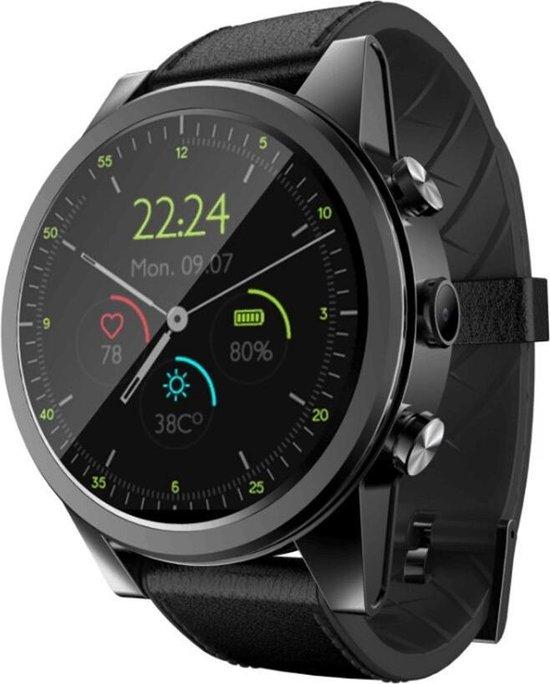 DrPhone SW10 - Smartwatch Mannen - 1GB Ram + 16GB Opslag - GPS / WiFi - 4G LTE - 1.6 Inch Amoled Scherm - Android 7 + Camera