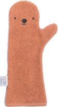 Afbeelding van Baby Shower Glove Bear roest bruin