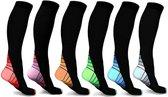 Clayton Therapeutische Compressie sokken kousen Sport Wandel 6 paar - S/M