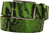 Groene riem - Fluo Python Green  Dames riem - Broekriem Dames - Dames riem -  Dames riemen - heren riem - heren riemen - riem - riemen - Designer riem - luxe