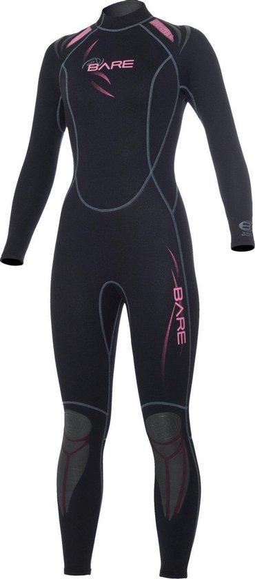 Bare 3/2mm Full - Wetsuit - Dames - 12 - Zwart/Roze