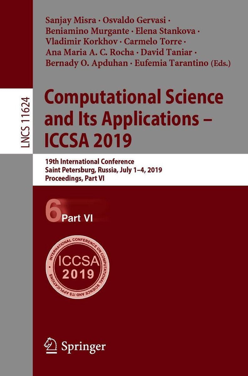 Computational Science and Its Applications   ICCSA 2019
