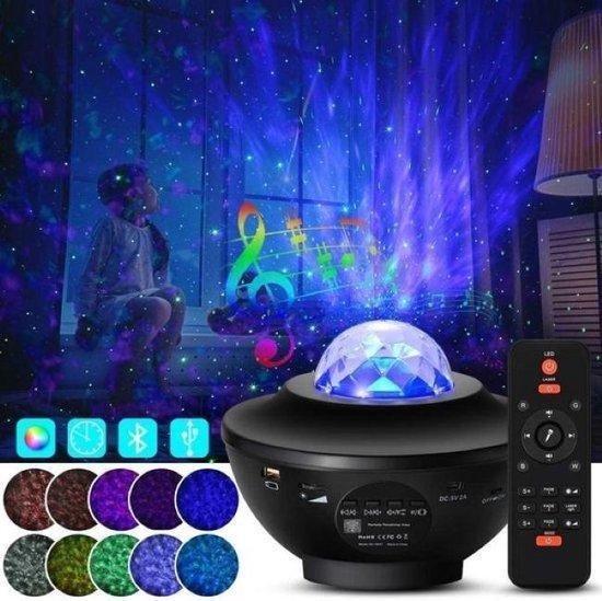 Sterren Projector Sterrenhemel- Bluetooth - Met Muziek-USB Kabel-Led en Laser Lamp- Plafond Bluetooth Projector-Night Light Projector