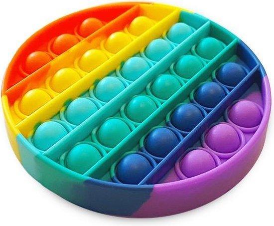 Afbeelding van Pop It Fidget Regenboog - Ronde vorm - Multi color - Pop it fidget toy speelgoed