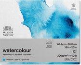 Winsor & Newton Classic Aquarelpapier Grain fin Blok 1-zijdig gelijmd 300gr 12 vel 25,4x35,6cm