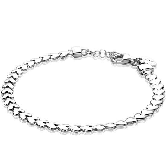 Zinzi Jewels 925 Sterling Zilveren Armband  (Lengte: 17.00-19.00 cm) - Zilver