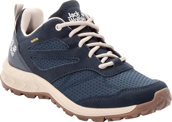 Jack Wolfskin WOODLAND TEXAPORE LOW W - dark blue / beige - Vrouwen - Maat 40