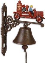 Klassieke deurbel - Ouderwetse brandweerwagen - Set van 2