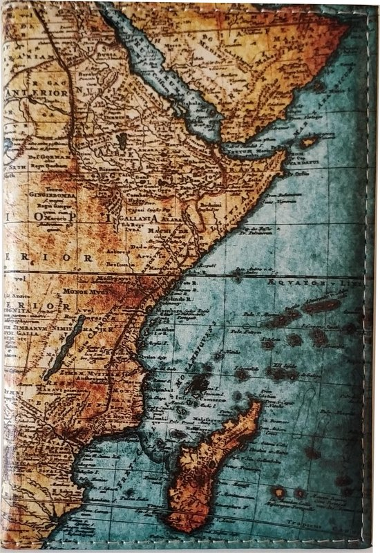 Paspoorthoes - 3D Wereldkaart Design - Kunstlederen Paspoorthouder - Waterproof Paspoortmapje - Paspoort Cover – Blauw