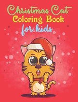 Christmas Cat Coloring Book For Kids