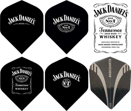 Afbeelding van het spel ABC Darts - Jack Daniels Dartflight set - 5 set