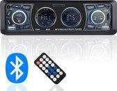 Dieux® Autoradio met Bluetooth en USB - Handsfree Bellen – USB Charging – Met Afstandsbediening – SD Kaart AUX FM Radio - Zwart