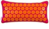 Flowee Spijkermat kussen - Fuchsia met oranje - Vulling van Boekweitkaf - Acupressuurmat