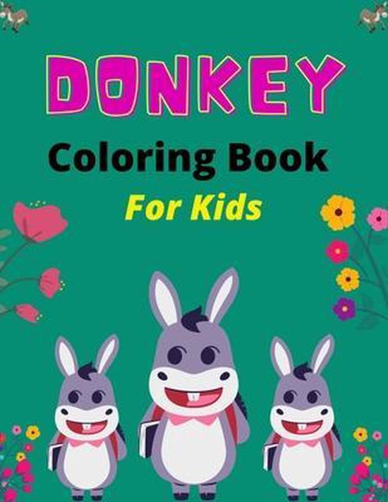 DONKEY Coloring Book For Kids
