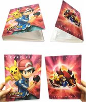 Pokémon Verzamelmap Voor 240 Kaarten - Ash Ketchum & Pikachu Rood - Pokémon Kaarten Map