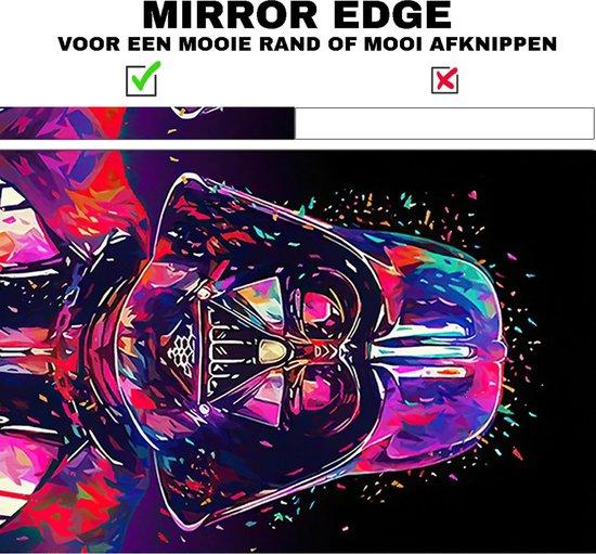 Darth Vader star wars - neon kleuren canvas poster 100x70 (Excl rand gemeten) ''Mirror-Edge'' rand voor gekleurde zijkant