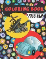 Coloring Book for Kids & Toddlers: Planes and Cars, ...