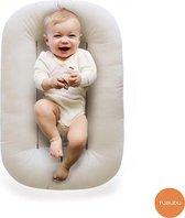 Tubudu Baby Snuggle Organisch Babynestje - Luxe Baby Nest - Inclusief Tencel Cover en Draagtas - Natuurlijk Materiaal - Wit