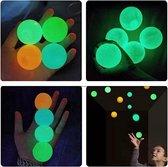 Sticky Balls - 6 Stuks - Globbles - Glow in the dark -