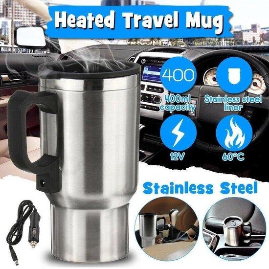 Baymate 450 ML Rvs Water Houden Warmer Waterkoker Draagbare Auto 12 V Hot Warmer Pot Mok voor Thee Koffie sigarettenaansteker
