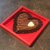 Liebechoc Ambachtelijke Romige Chocolade Hart - Valentijn - 200 gram