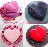 Siliconen mal harten inclusief hamer - Chocolade - TikTok Famous - Diamanten hart- 3D - Bakvorm - Bonbons - Mold - Bakvormen - Smash Heart - Bakken - Koken - Valentijn hart - Keukengerei - Keukenaccessoires - Liefde