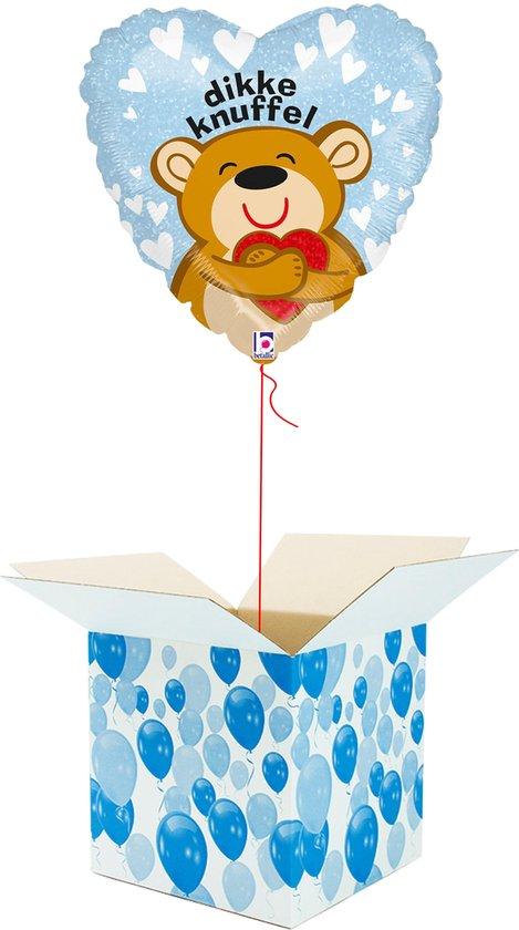 Helium Ballon Hart gevuld met helium - Dikke Knuffel - Cadeauverpakking - Valentijnsdag - Beterschap - Hartjes Folieballon - Helium ballonnen gevuld