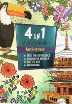 Anti-Stress 4in1 Activiteitenboek voor Volwassenen
