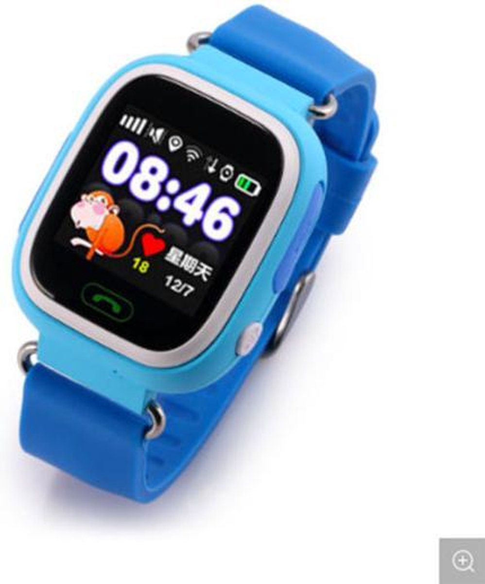 GPS tracker kinderen- Kinder Smartwatch met GPS Bel en SMS functie - gps watch - hoge kwaliteit - model 2020 - blauw