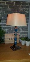 Edi Light ouderwets / kitscherige lamp met LED blauwe variant