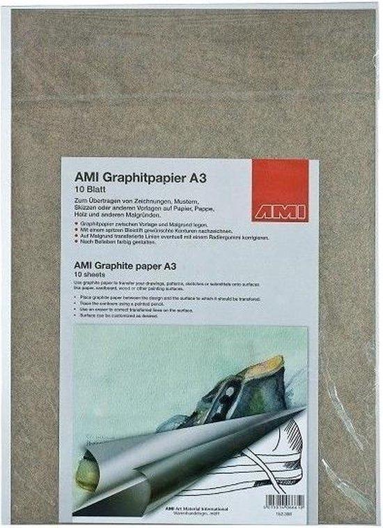 Afbeelding van AMI Grafietpapier A3, 10 vel zwart