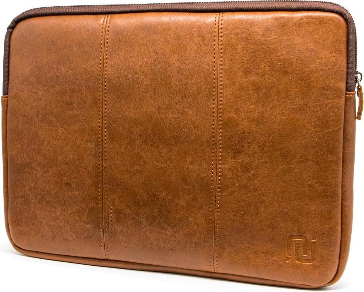 NEGOTIA Vintage Abbey - Leren Laptophoes 13,3 inch - Macbook Air & Pro 13 inch case / hoes - Laptop