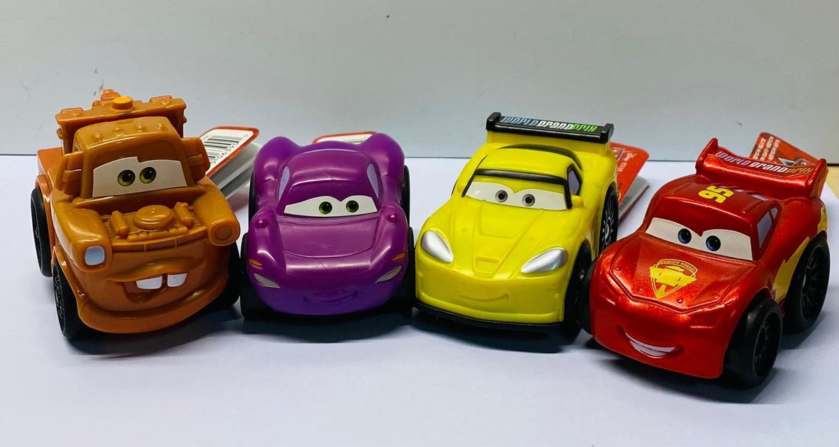 Cars Wheelie assorti B set 4 stuks
