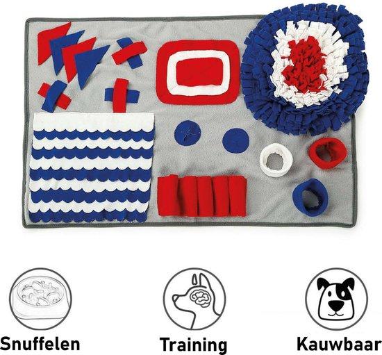 Snuffelmat Hond Kat Honden Speelgoed Puppy Speelgoed Katten Speeltjes - Snuffelmatten Voor Honden en Katten intelligentie - Hersenwerk - Speelmat - Konijnen - Training - Speeltjes - Trainingsmat - Anti-Schrok - Snuffelkleed – Blauw