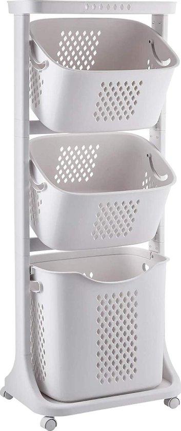Sens Design Wassorteerder – Wasmand met 3 vakken - op wieltjes