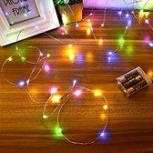 Lichtsnoer LED - Multicolour Fairy Lights - 5M met 100LED - Binnen & Buiten - Werkt op 3AA Batterijen